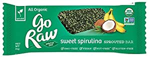 Go Raw Spirulina Energy Bar,  14 gram Bars, 10 Count