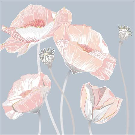 Pack of 8 Beautiful Blank Notecards and Envelopes (WDM7716) - Wild Flowers