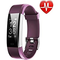 LETSCOM Fitness Tracker HR, Reloj de seguimiento de actividad con monitor de frecuencia cardíaca, resistente al agua, pulsera inteligente de fitness con contador de pasos, contador de calorías, podómetro, para niños, mujeres y hombres, Android iOS