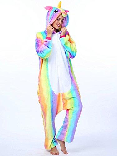iSZEYU Unicorn Costume Adult Onesies For Women Girls Halloween ...