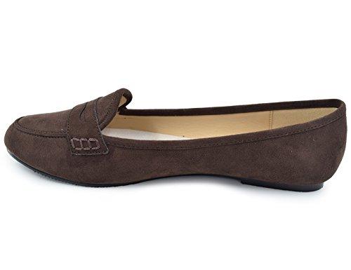 Greatonu - Mocasines Mujer - 36-40 EU Marrón - marrón