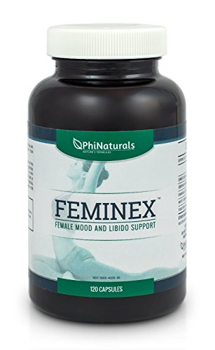 Feminex: Female Libido Enhancer & Mood Booster for Women. 100% Herbal Supplement Supports A Woman's Sex Drive Naturally