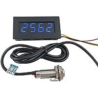 Tacómetro LED de 4 dígitos, de Digiten, medidor