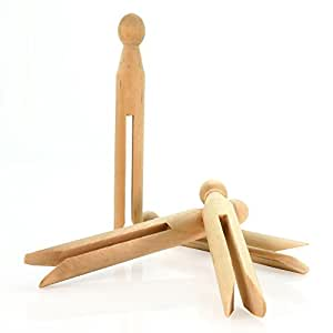 Hangerworld Pack of 24 Quality Wooden Dolly Clothes Pegs for Washing Lines By Hangerworld