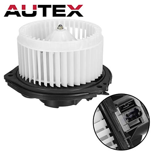 AUTEX HVAC Blower Motor Assembly Compatible with Buick Lacrosse 2005-2009,Chevrolet Impala 04-16,Chevrolet Monte Carlo 04-07 Replacement for Pontiac Grand Prix 04-08 Blower Motor Connector 700107