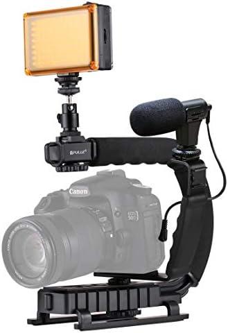 GzPuluz カメラサポート スタビライザー アクセサリー U/CシェイプポータブルハンドヘルドDVブラケットスタビライザー