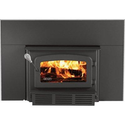 Drolet 60,000 BTU EPA-Certified Escape Fireplace Wood Insert, Metallic Black