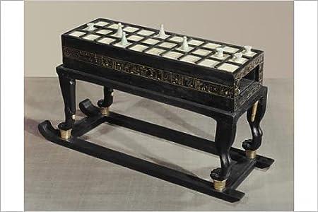 Impresión fotográfica de un juego de mesa de senet, en ébano y ...