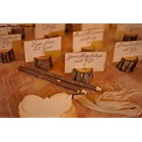 tree branch place card holder set of 12 for rustic weddings and events