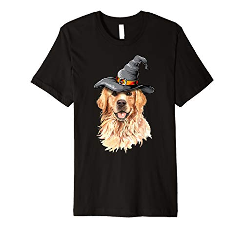Golden Retriever Halloween Costumes Shirt Gifts Funny Dog Premium T-Shirt -