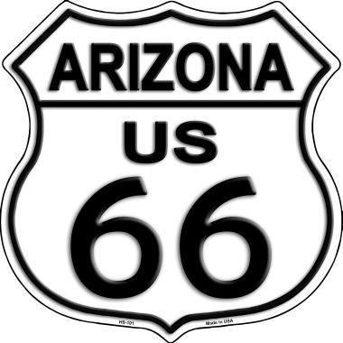 Rancho Denaro HS-101 Arizona Route 66 Highway Shield Metal Sign
