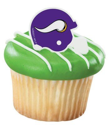 NFL Minnesota Vikings Cupcake Rings 12 Pack (Minnesota Vikings Party Pack)