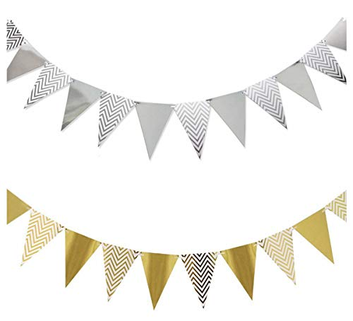 INWAY Party Decorations Supply Favors Kit Party Banner Black Gold Set