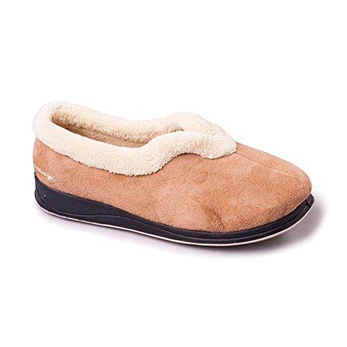 Millimetri Memoria Di Da 30 Donna Forma Velcro In Larghezza Talpa Grande Padders Suole Calzascarpe Con Extra 'carmen' Cammello Libero Ee Scarpe Tallone E Tzqvq