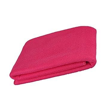 Toallas de Baño Ducha Playa Paño Secado Absorbente Microfibra -Rosa Caliente: Amazon.es: Hogar