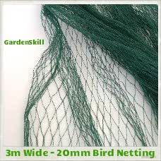 3 m de ancho - 20 mm anti-aves red (verde) - Red bigdug red tejida