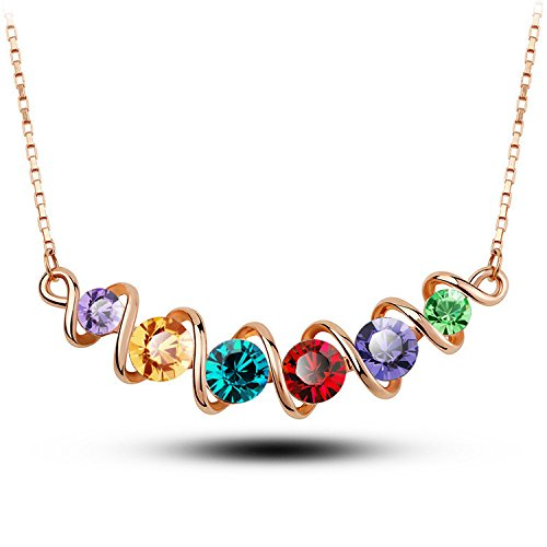 YouBella Gracias Collection Stylish Rainbow Pendant / Necklace for Women and Girls