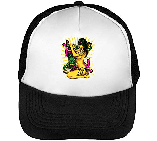 Hombre Snapback Beisbol Gorras Skater Blanco Girl Negro StwOUEUnqx
