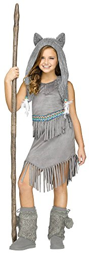 Fun World Wolf Dancer Kids Costume, Large, Multicolor ()