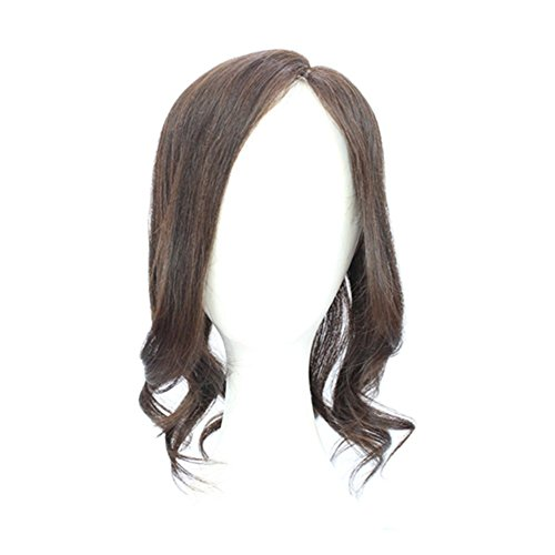 Remeehi 15'' Hand Tied Real Human Hair Toppers Top Pieces Closure for White and Thinning Hair (Body Wave Natural Black) by Remeehi