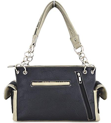 Blancho Biancheria da letto delle donne [Sisterhood-2] Cuoio borsa Tote Bag Black Elegante Moda