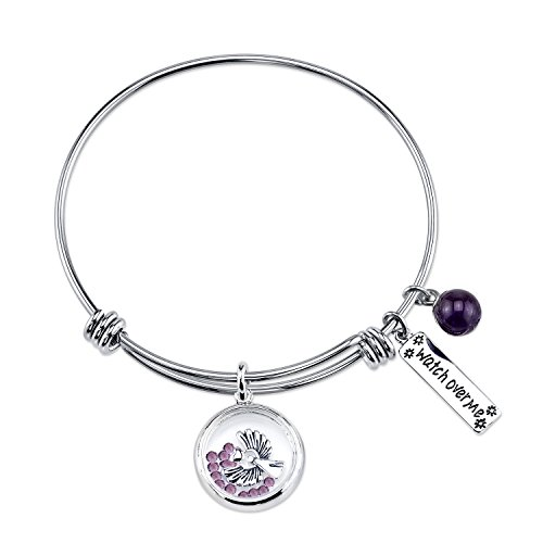 (Stainless Steel Expandable Watch Over Me Bangle Bracelet)