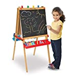 Melissa-Doug-Deluxe-Wooden-Standing-Art-Easel-Arts-Crafts-Easy-to-Assemble-Builds-Fine-Motor-Skills-47-H-x-27-W-x-26-L-Assembled