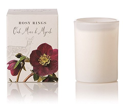Rosy Rings Oak Moss & Myrrh Botanica Candle (White)