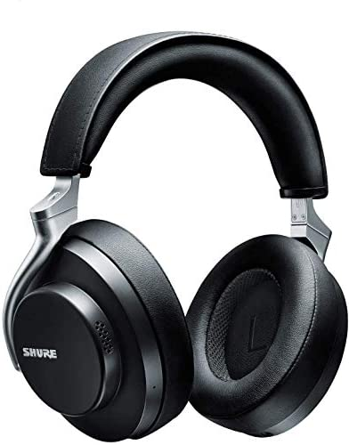 Shure AONIC 50 Wireless Noise Cancelling Headphones, Premium Studio-Quality Sound, Bluetooth 5 Wireless Technology, Comfort Fit Over Ear, 20 Hours Battery Life, Fingertip Controls – Black
