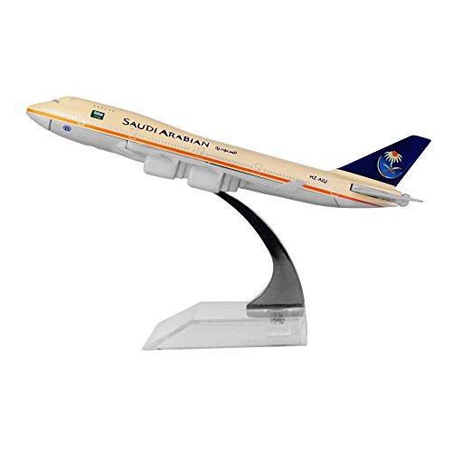 24-Hours Saudi Arabian Airlines Boeing 747 White Metal Airplane ()