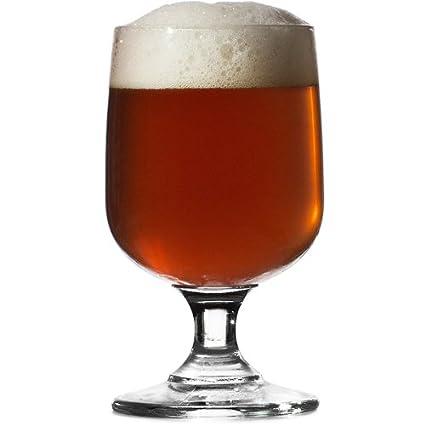 Gemini con base y vasos de cerveza CE media pinta 10 oz/280 ml - 6 unidades - vaso de cerveza de los Dubbel