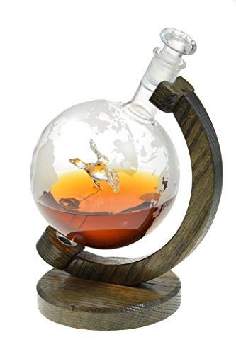Mallard within Etched Globe Liquor Decanter - Scotch Whiskey Decanter - 1000ml Glass Decanter for Alcohol - Vodka, Bourbon, Rum, Wine, Tequila or Even Mouthwash - (Mallard - Prestige Decanters) by Prestige Decanters