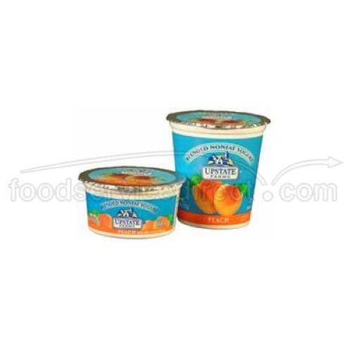 Upstate Niagara Coop Peach Rich and Creamy Yogurt, 4 Ounce - 48 per case.