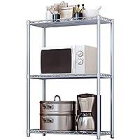 Wire Shelving Unit Metal Storage Rack Shelf Shelves Kitchen Bathroom