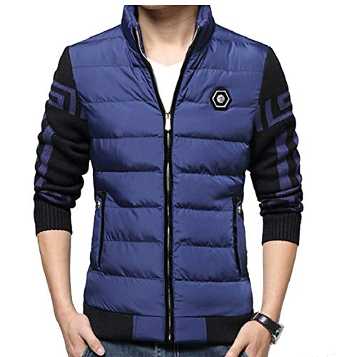 security Blue Men's Winter Stand Cotton Collar Warm Thick Coats Jackets Down rrwvq7nC
