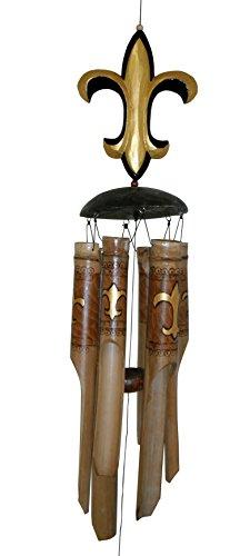 Cohasset Gifts 112 Fleur De Lis Bamboo Wind (Fleur De Lis Wind Chime)