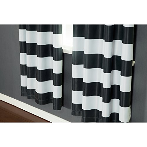 Lowest Price Turquoize Nautical Blackout Curtains 2 Panels Room Darkning Grommet Top Light