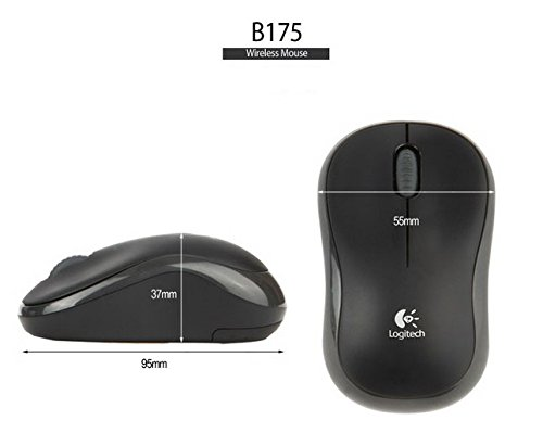 Review Logitech B175 2.4Ghz Wireless Mouse Long Battery Life for laptop or netbook