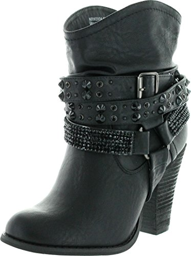 Not Rated Women's Double Dip Harness Boot,Black,6.5 M US