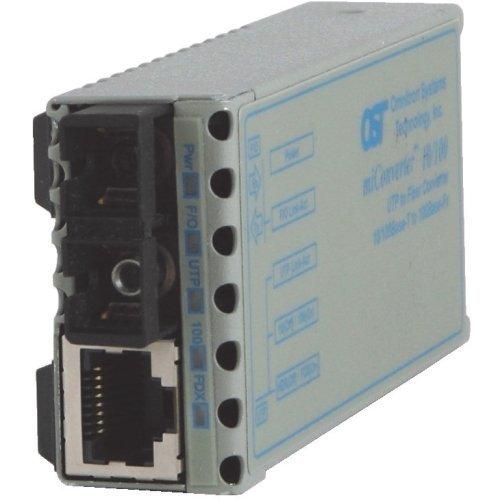 Omnitron Systems 1102-0-1 miConverter 10/100 Ethernet Fiber Media Converter RJ45 SC Multimode 5km - 1 x 10/100BASE-TX, 1 x 100BASE-FX, US AC Power Adapter, Lifetime Warranty by Omnitron