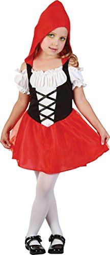 Children's Little Red Riding Hood Costume Uk (Toddler Kids Fancy Book Week Day Little Red Riding Hood Sweetie Costume Dress)