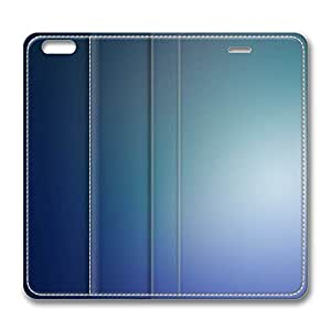 iPhone 6 Plus Case, Fashion Protective PU Leather Flip Case [Stand Feature] Cover Blurry Blue Background Iv for New Apple iPhone 6(5.5 inch) Plus