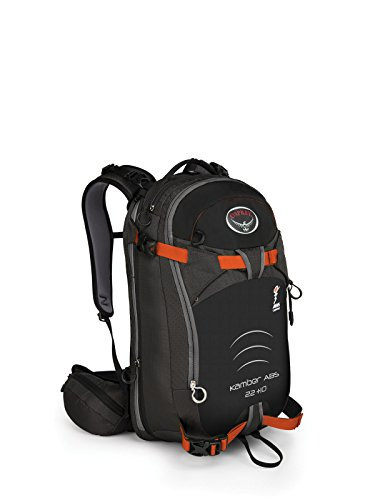 (Osprey Packs Kamber ABS Compatible 22+10 Ski Pack, Black, Small/Medium)