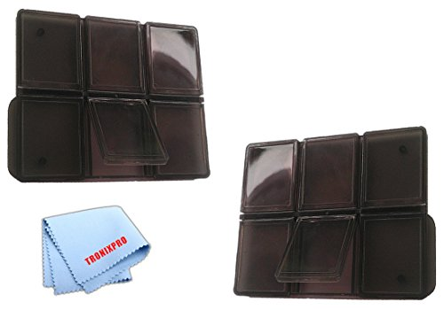 2 SD Memory Card Holders for 6 Cards Each, Total: 12 Slots, Microfiber Cloth - 6pc Multi Memory Card Holder