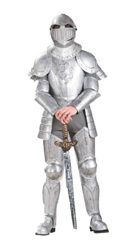 Forum Knight In Shining Armor Complete Costume, Silver,