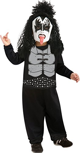 [UHC Rock and Roll Stars Kiss Demon Tiny Tikes Toddler Kids Halloween Costume, 2T-4T] (Rock And Roll Costume For Kids)