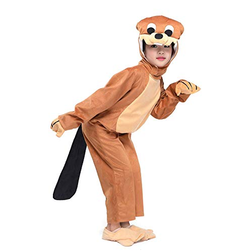 Wraith of East Kids Otter Costume Childen Animals Party Halloween Cosplay Fancy Dress L -