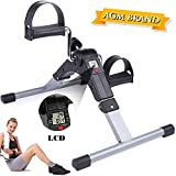 AGM Mini Exerciser Bike, Arm Leg Pedal Exerciser Fitness Cycling with LCD Monitor and Adjustable Resistance Home Fitness Resistance Cycle Training Workout (Foldable Pedal Exerciser)