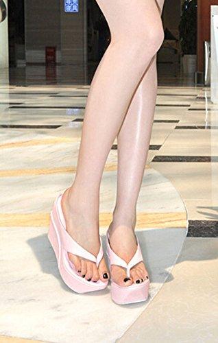 Pendiente con zapatillas sandalias de tacón alto zapatos mujer rosa claro