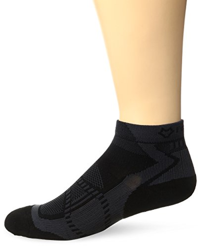Fox River Peak Series Velox LX Quarter Crew Cut Running Socks, Medium, Black